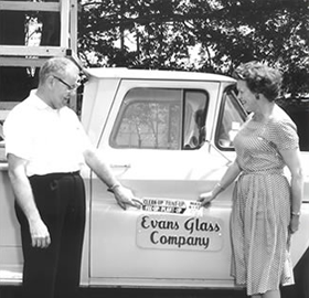 Evans Glass History